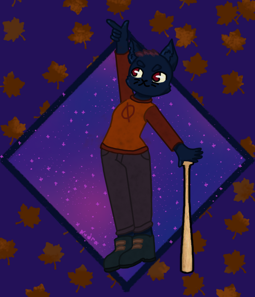 Night in the woods Mae by PixiPickel