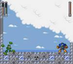 Air Man boss room in Mega Man 7 style