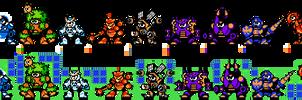 Mega Man: Time Tangent robot masters in 8-bit