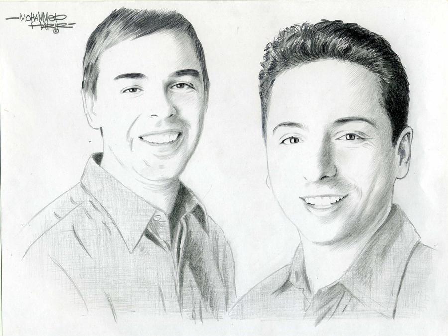 Larry Page and Sergey Brin by MuhammadHarir on DeviantArt