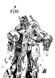 Zombie Optimus Prime by ignika24