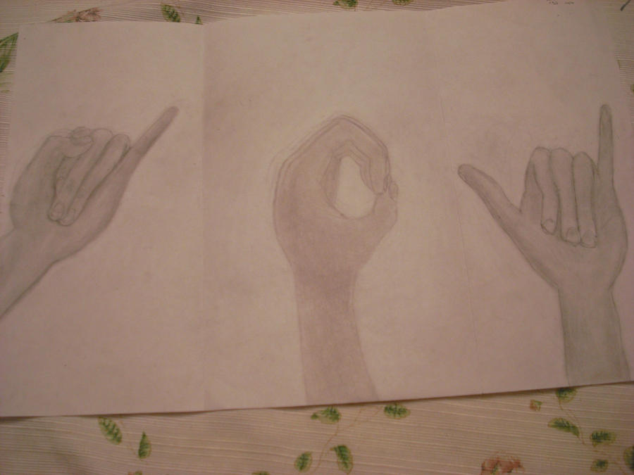 i Love You Sign Language Drawing Sign Language Hands Drawing by