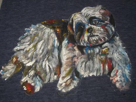 Gunner, the Richmond family dog.