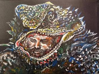 Jim Morrison in a Lizard's Mouth.