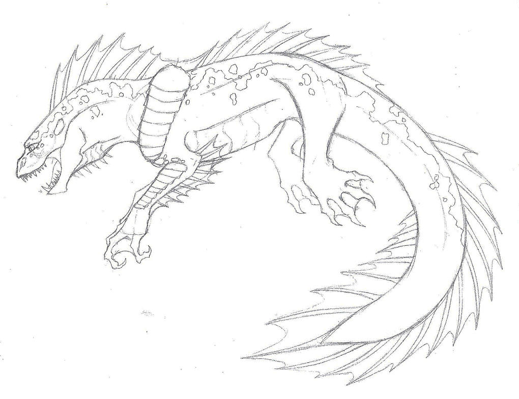 Line Drawing Monster : Sea monster sketch by endlessshower on deviantart