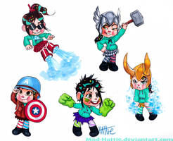 Vanellope the Avenger by Mad-Hattie