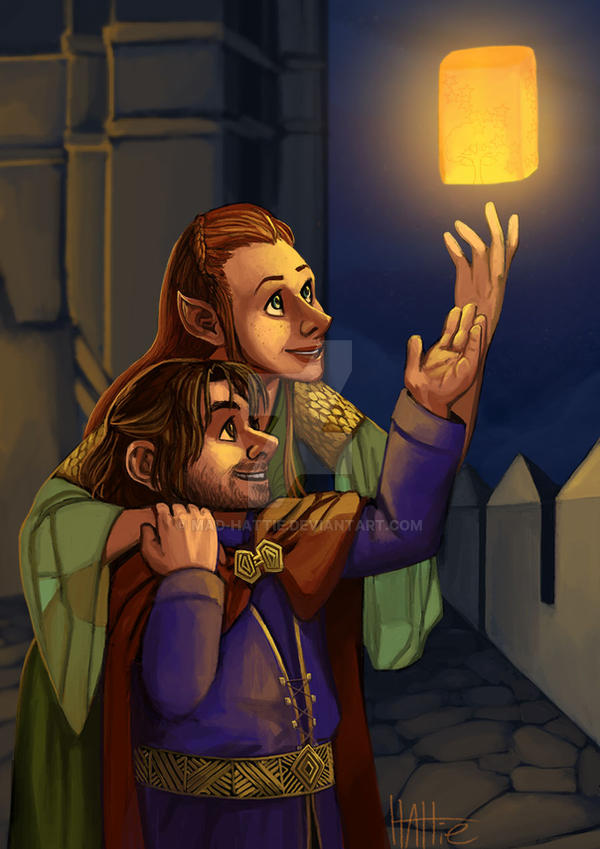 Lanterns over Erebor by Mad-Hattie