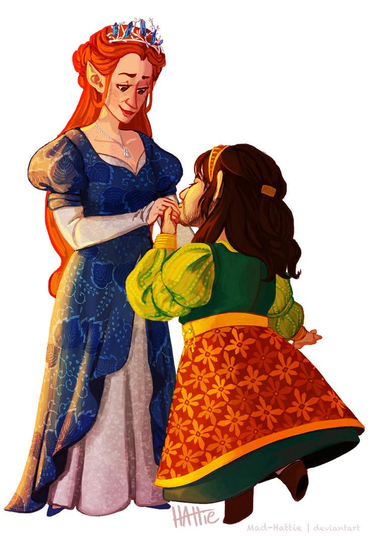 Tauriel and Princess Kili by Mad-Hattie
