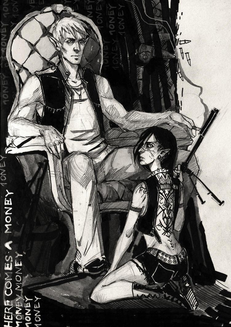 the doberman by Hekkil