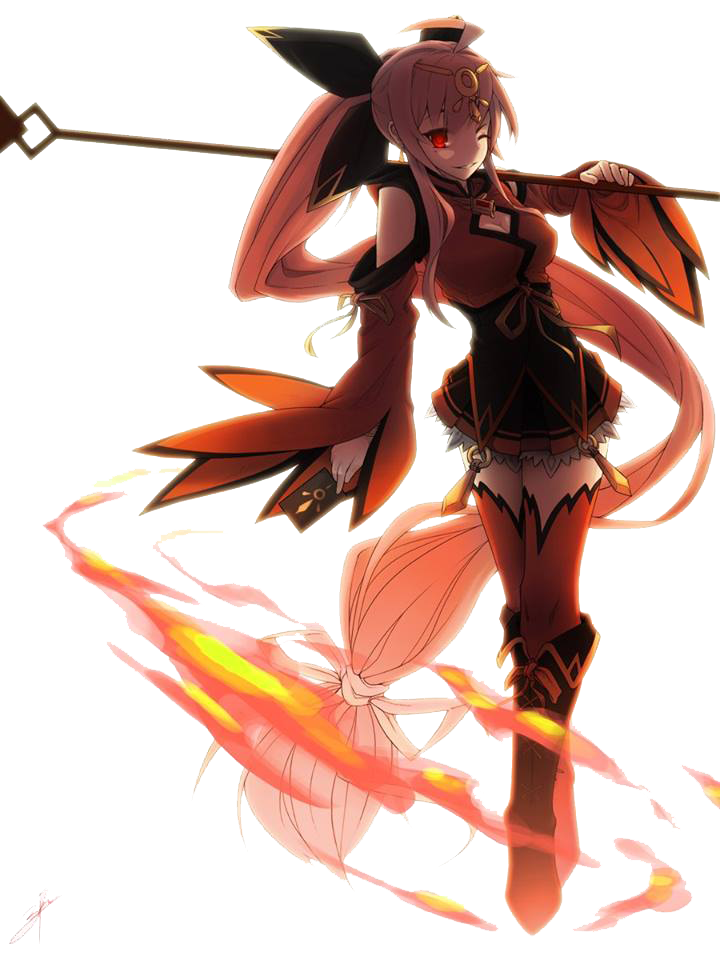 Ignia fire prietess true form render by littlediety on - Anime girls with fire ...