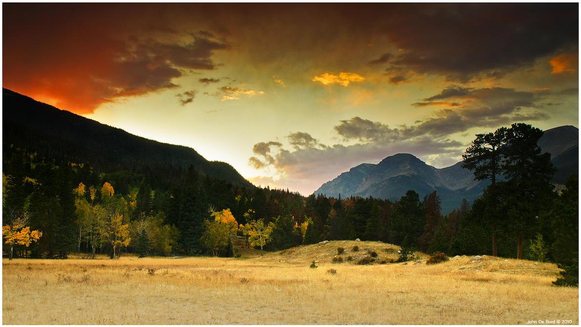 A Firey Autumn Sunset by kkart