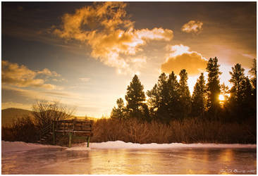 The Winter Sunrise Dock by kkart