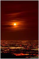 Moonrise Over Golden by kkart