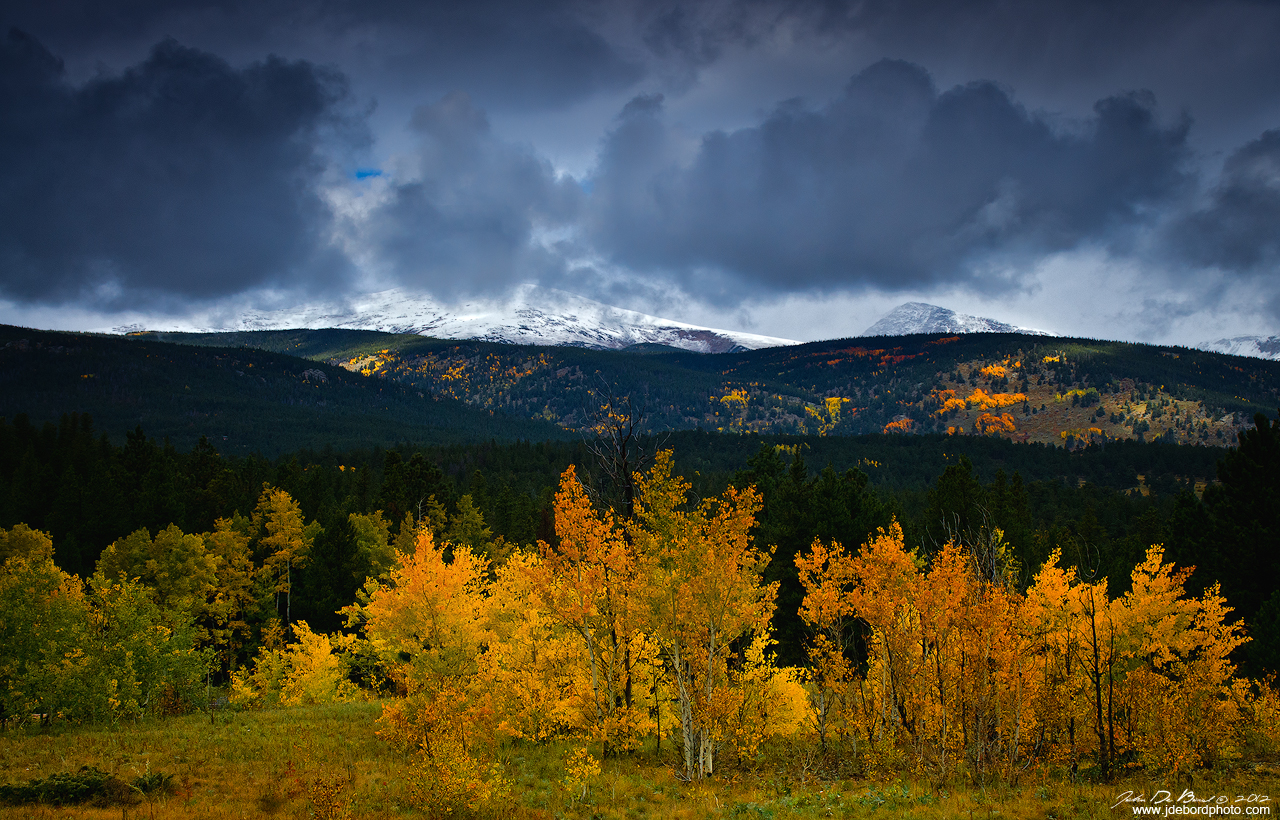 Indian Peaks And Aspen Trees by kkart