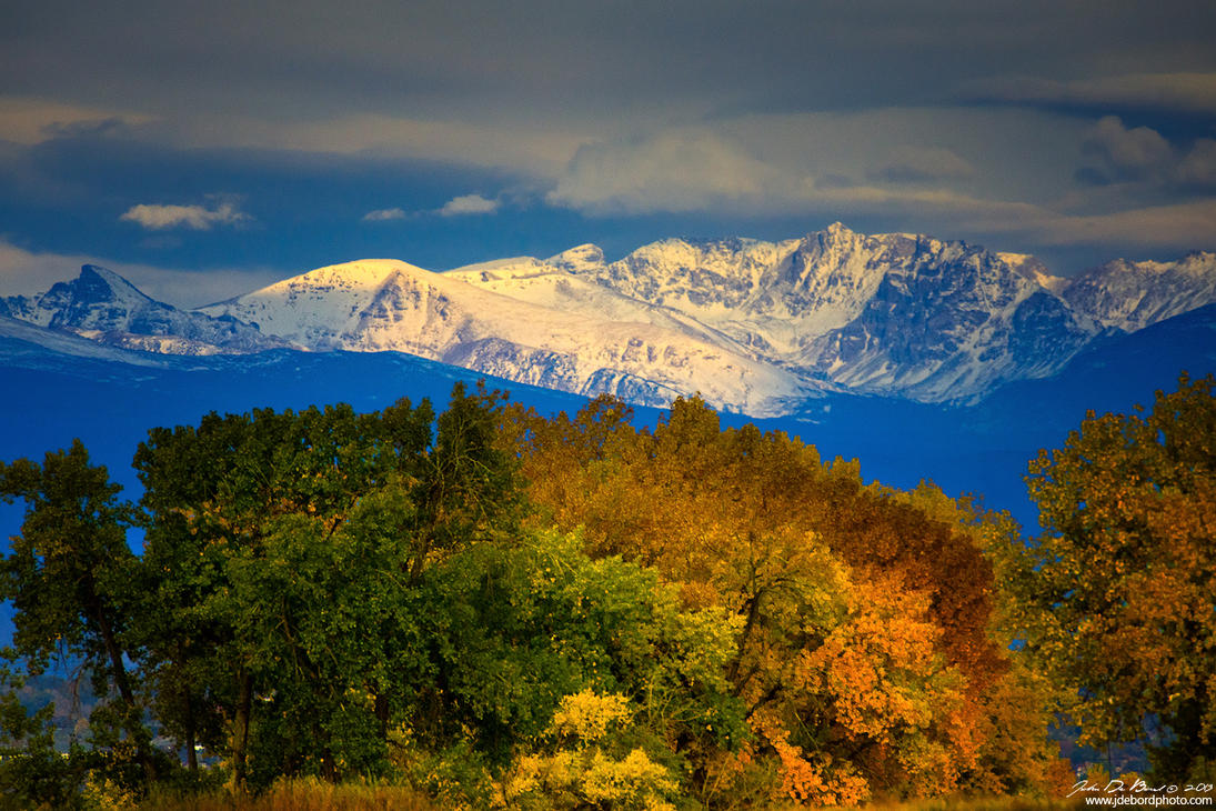 Willows Under The Rockies by kkart