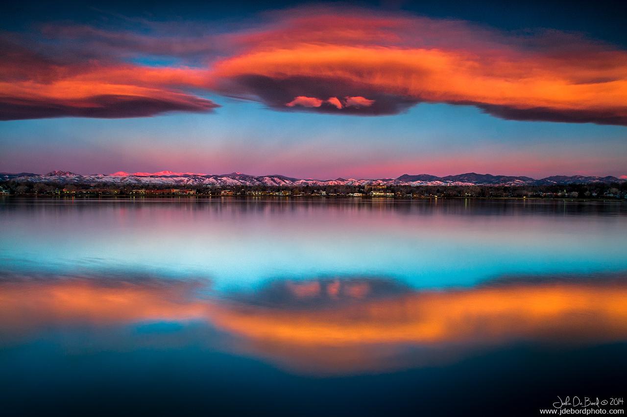 Sunrise Over The Front Range by kkart