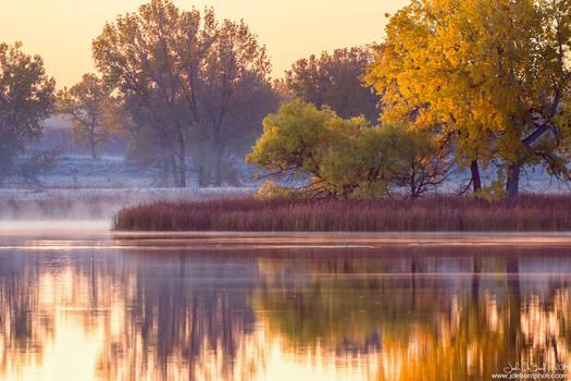 A Foggy Morning In Fall