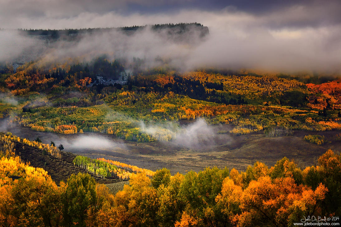 Fog & Clouds Over The Mesa by kkart