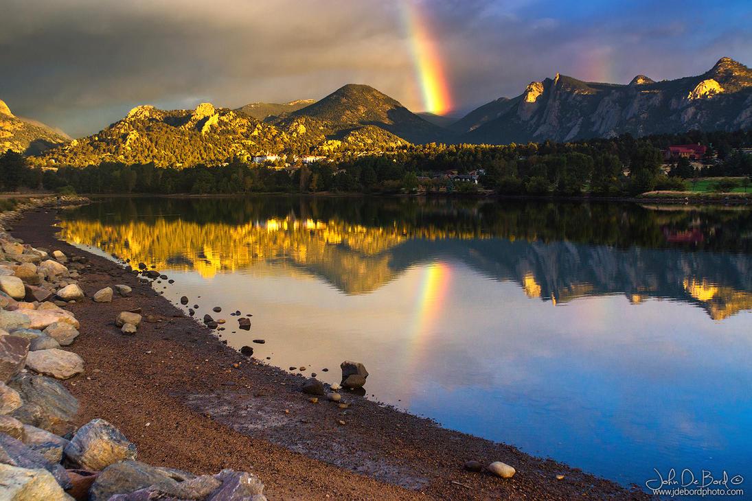 A Rainbow Over Lake Estes by kkart