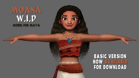 [WIP] Moana HQ Model Editing in Maya