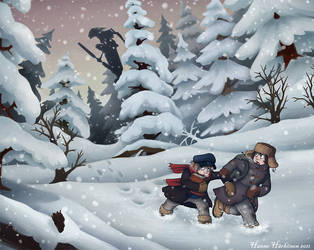 Escaping Baba Yaga by MacGreen