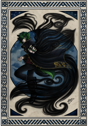 Conjuring dark wind by MacGreen