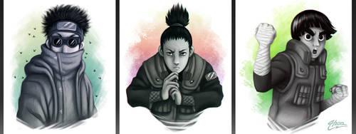 Shino Shika Lee by MacGreen
