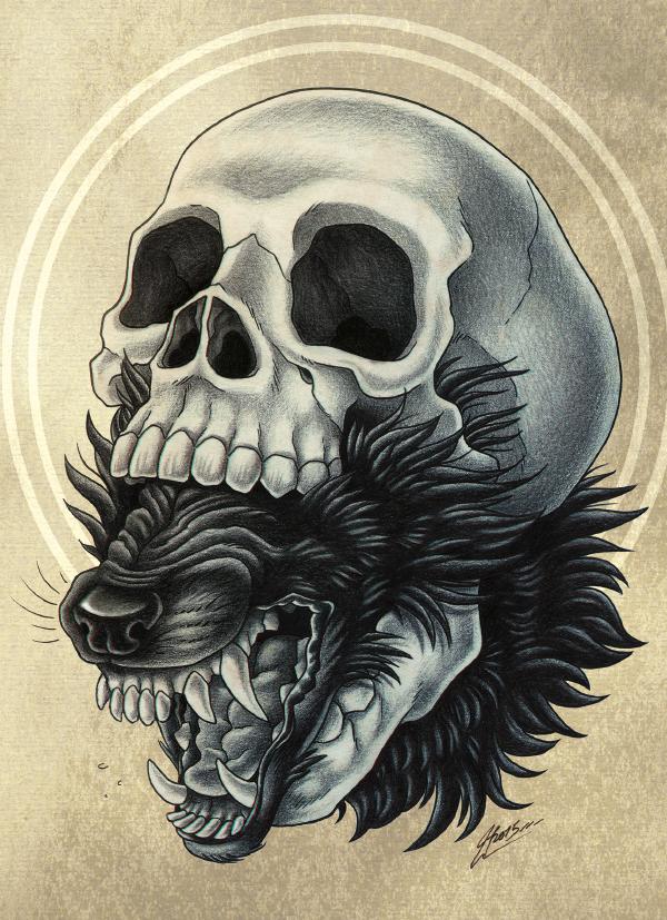 Green Skull Face Painting