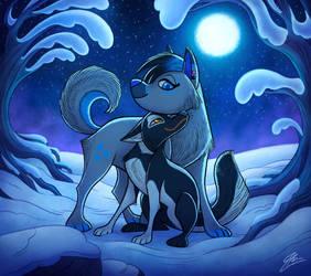 Moonlight romance -commission-
