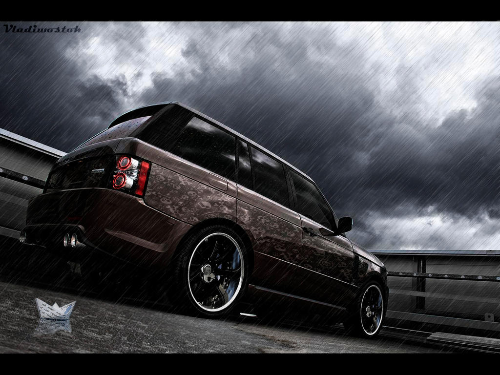 Range Rover in Rain by vladiwosok