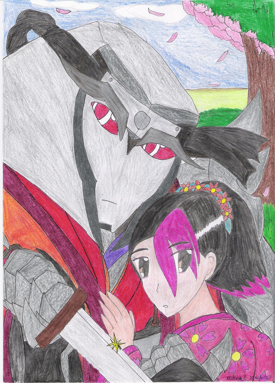 The Samurai and the Hime: Megatron and Miko by HNewCrossP93
