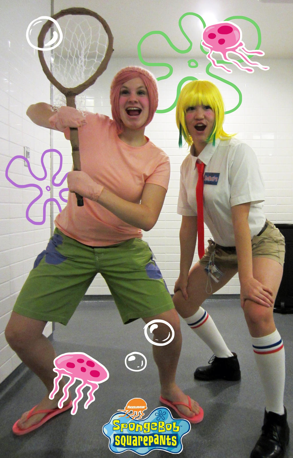 spongebob and patrick cosplay by injectable on deviantart