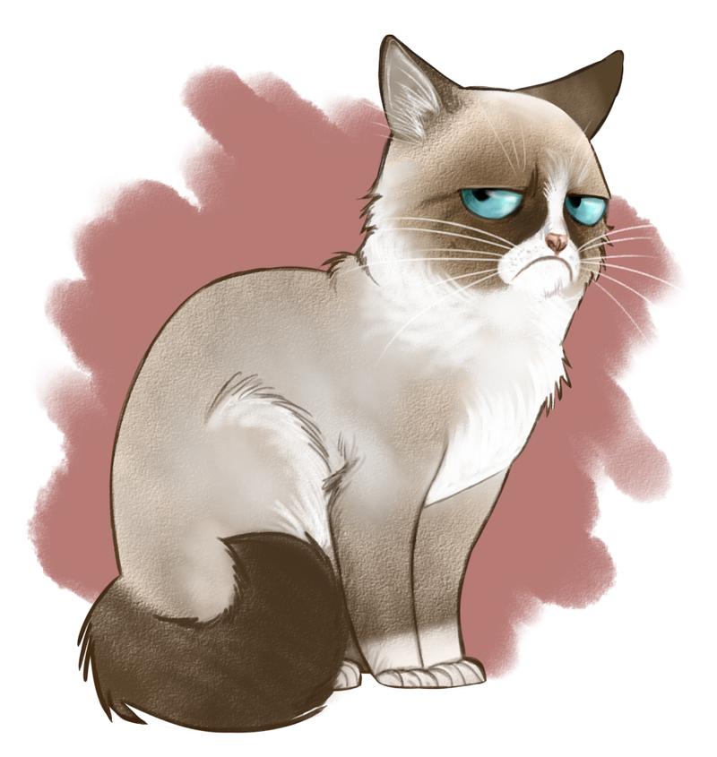 Grumpy cat by Adlynh