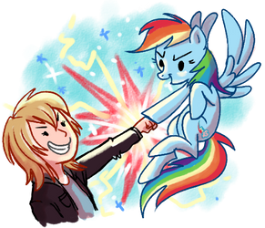 Ultimate brohoof by Adlynh