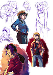 Sketches OCs by Adlynh