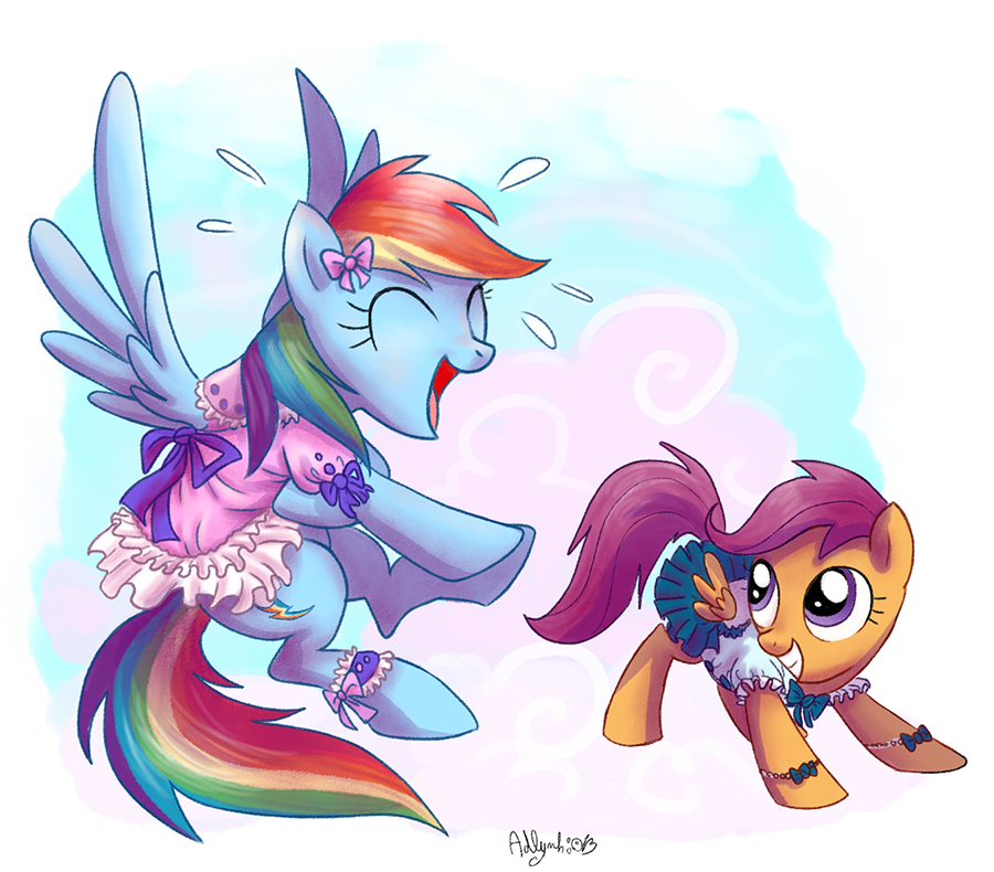 scootaloo and rainbow dash wallpaper 1080p