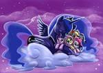 Luna hugging plushies mane6 6 Kallisti 4