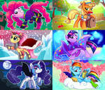 Mane6 disguised as vilains