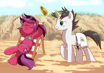 Chillin' on the beach