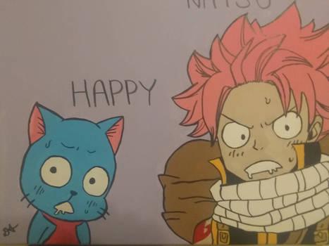 Natsu and Happy