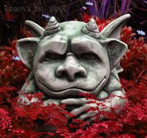 Gargoyles in the Garden II by Gothic-Mystery