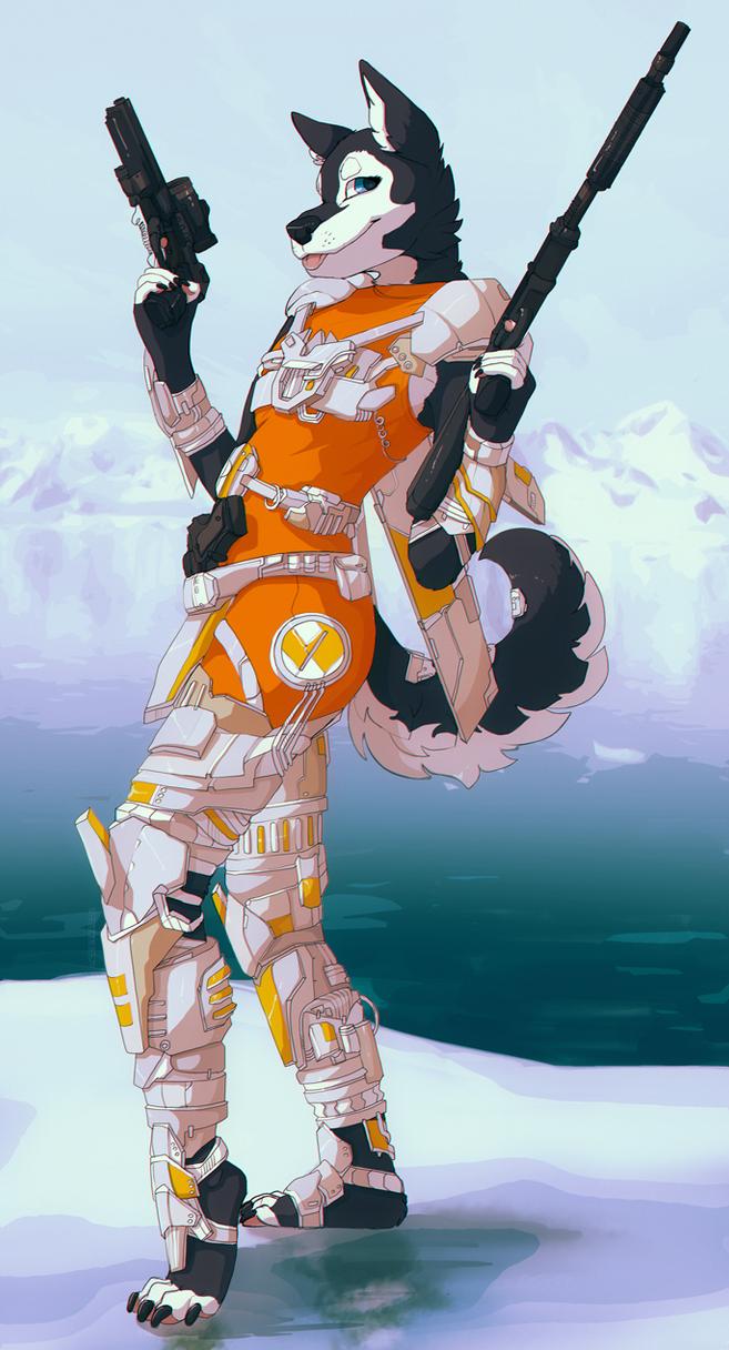 Juggernaut in orange by jeanwoof
