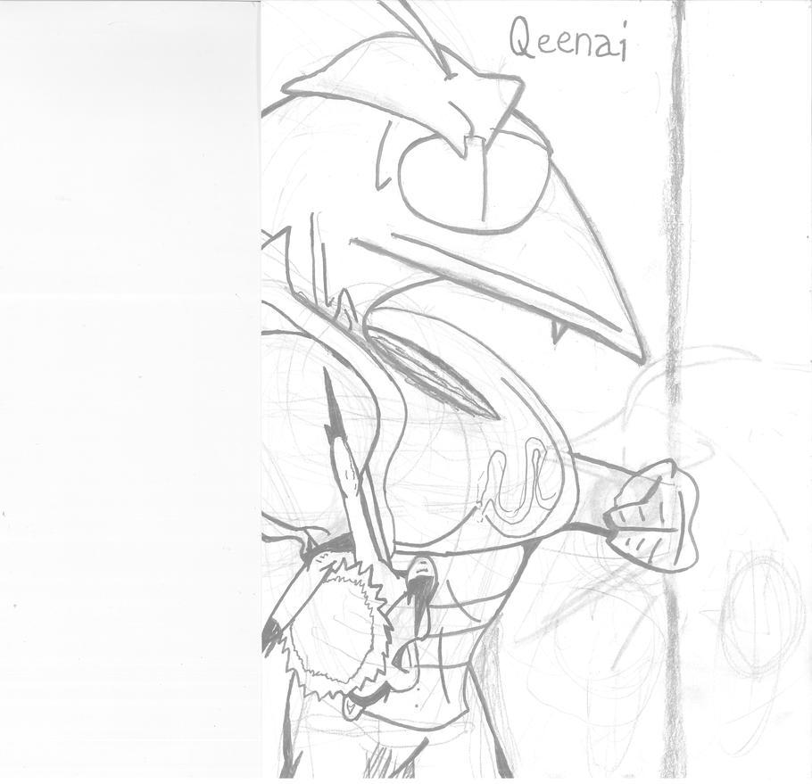 Work In Progress: Qeenai ( Dragon Ball Z OC ) by Xenotoonz9f