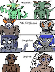 Some Of My Alien Races by Xenotoonz9f