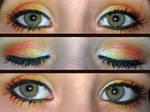 Gryffindor make up eyes