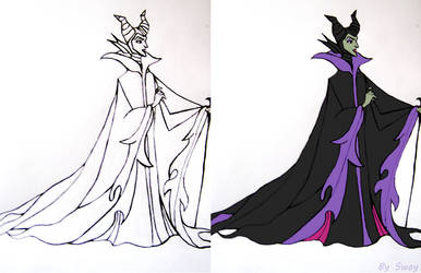Maleficient Disney Vilain Drawing by Toxic-Sway
