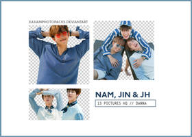 Pack Png 188 // RM, JHope and Jin (BTS). by xAsianPhotopacks