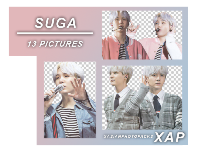 Pack Png 581 // Suga (BTS) (4th Muster)  by xAsianPhotopacks on