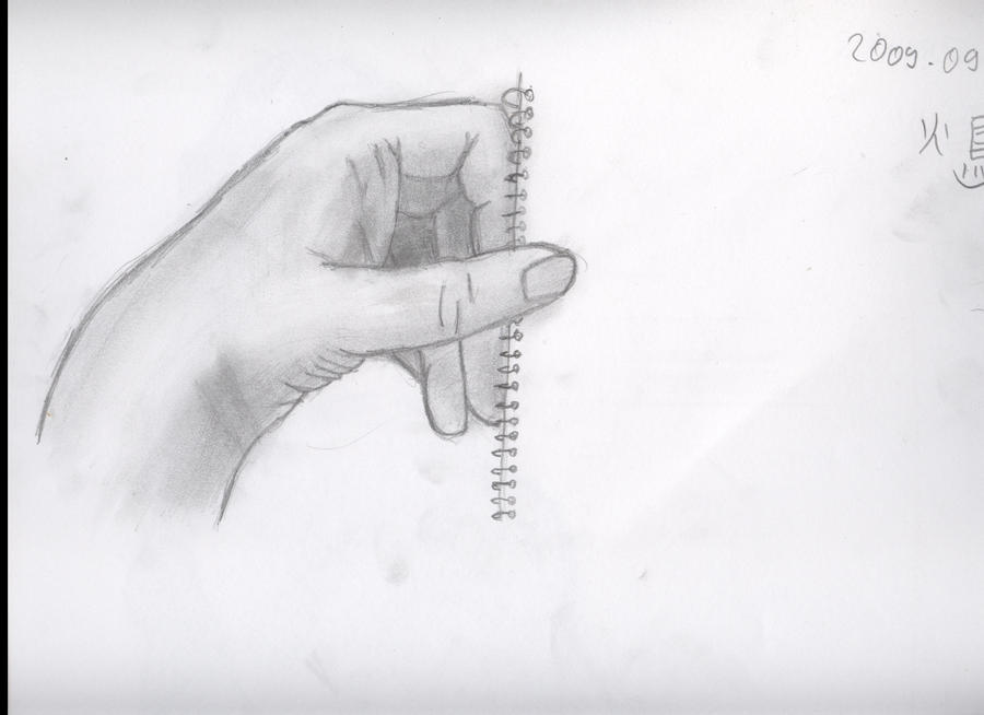 pencil drawing hand im...