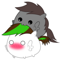 Kibbie and Shadowstone Chubbies ~ *glomp* by 2bitmarksman